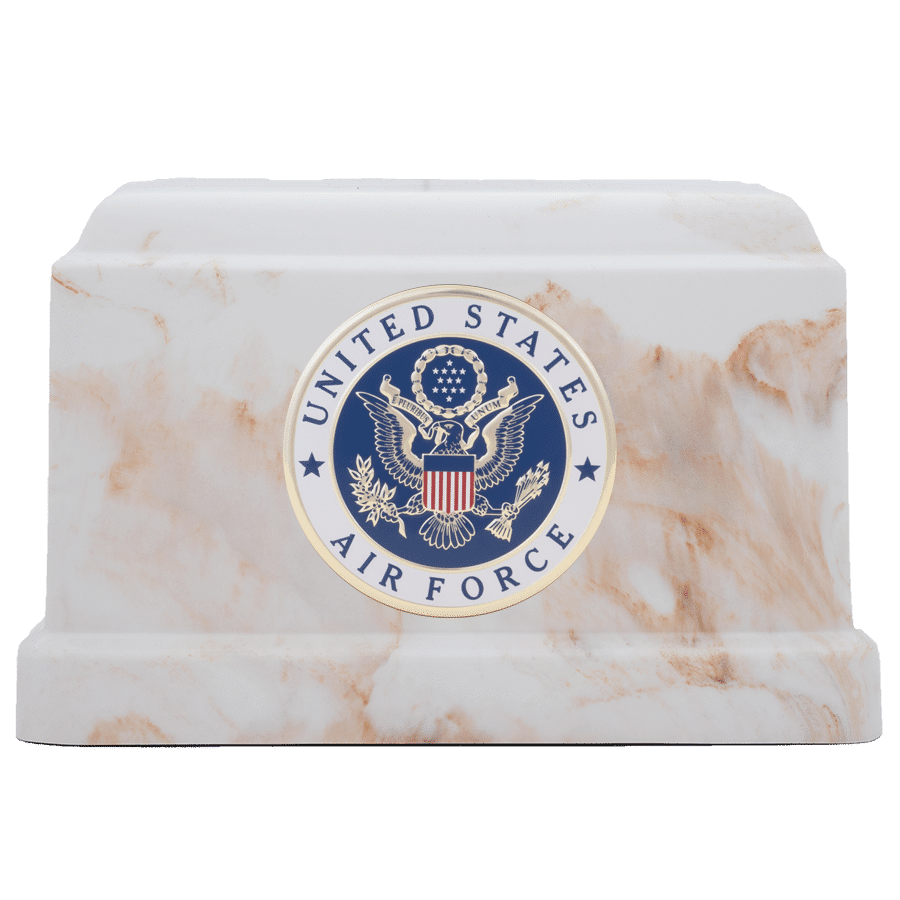 Veterans Funeral Care Centurian IV urn with Air Force seal