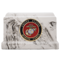 Centurian I urn with Marine Corps seal from Veterans Funeral Care