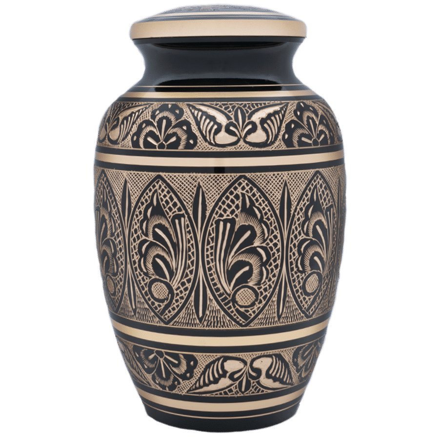 Moderne Urn COB gold and Black Veterans