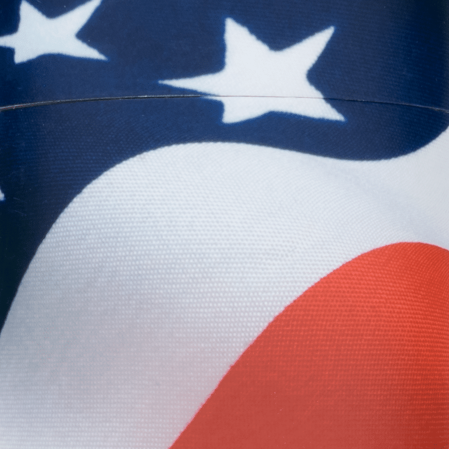 Scatter Flag Urn Up Close Detail Veterans