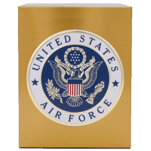 Veterans Funeral Care Simplicity Urn with Air Force seal