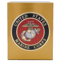 Veterans Funeral Care Simplicity Urn with Marine Corps seal