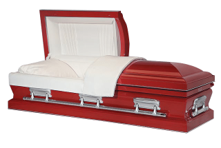 Veterans Funeral Care Cardinal Red Casket
