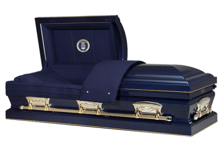 Veterans Funeral Care - Freedom Midnight Blue - Airforce Casket