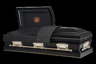 Veterans Funeral Care - Patriot Ebony - Marine Casket