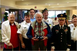 Funeral Home Blog Pow Survivor From Wwii is Presented a 48 Star Flag 000098 Pow Receives Flag
