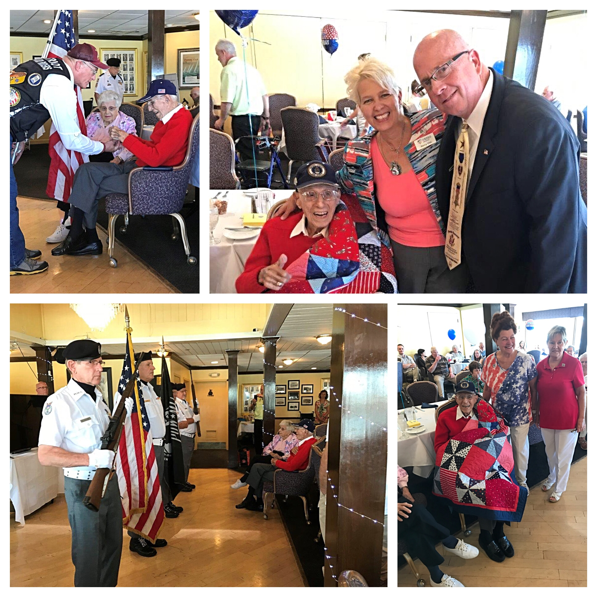 Funeral Home Blog Lt Colonel William G Poulos Wwii Veteran Turns 100 Years Old 000090 Party